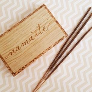 Namaste Original Woodburing Piece