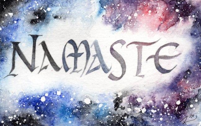 Watercolor Galaxy Namaste