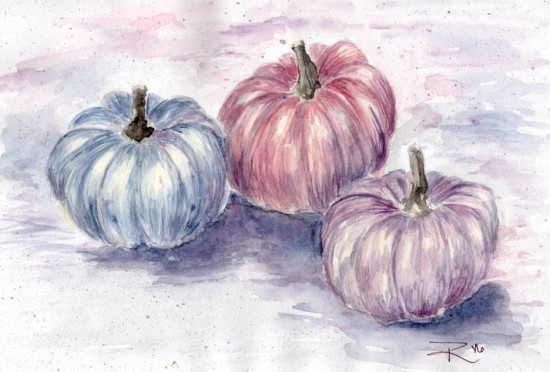 Watercolor Pumpkin Painting
