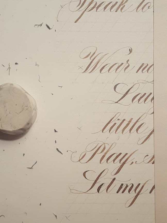 Calligraphy, Erasures